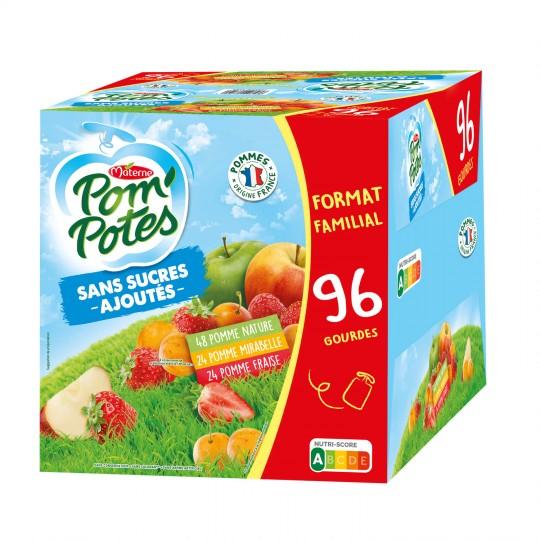 Pack de 96 Gourdes de Pom'potes - 96 x 90 g (Via 7.80€ sur Carte Fidélité)