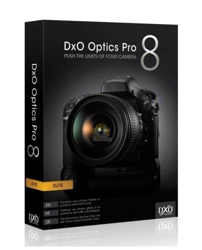 Logiciel de retouche Photo DXO Optics Pro Elite 8.5 Gratuit sur PC et MAC