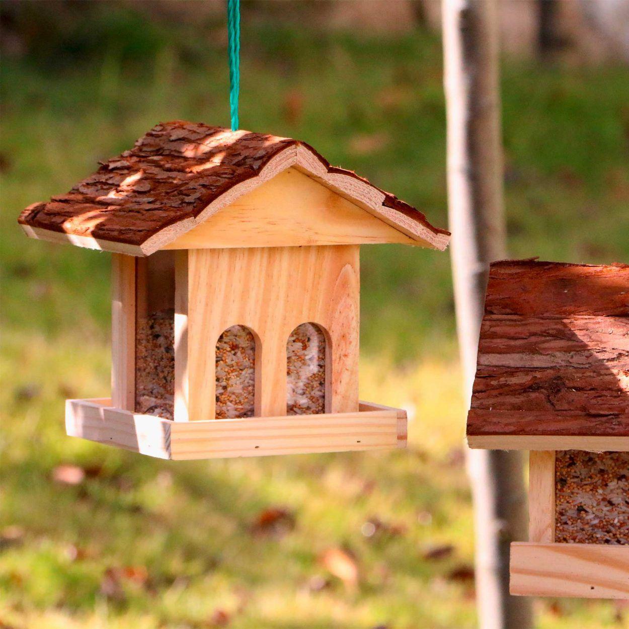 Mangeoire à oiseaux - 18 x 18 x 19 cm