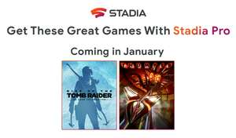 Google Stadia Pro : Rise of the Tomb Raider : 20 Year Celebration et Thumper offerts en Janvier 2020