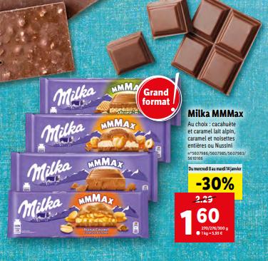 Tablette de Chocolat Milka Mmmax (Variété au Choix) - 300 g