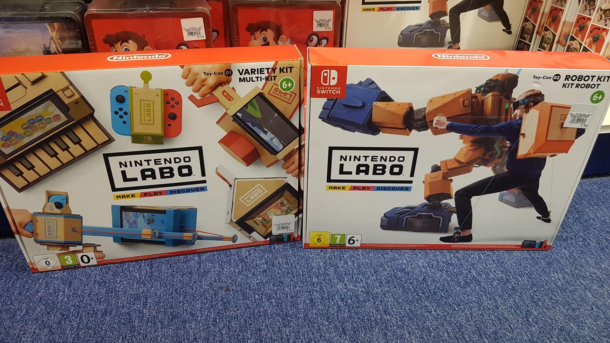 Nintendo Labo Variety Kit Toycon 01 ou Robot Kit Toycon 02 - Saint Clément (89)