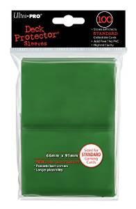 [Panier plus] Housse de protection Ultra Pro Green Solid - 100 pièces
