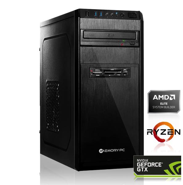 PC Gamer AMD Ryzen 5 2600 (6x3.40GHz), GTX 1660 (6 Go), 16 Go de RAM, 1 To + 240 Go en SSD, sans OS