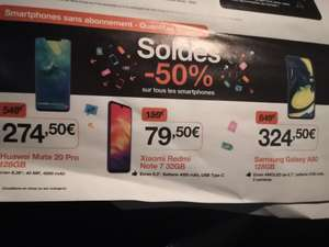 """Smartphone 6.7"""" Samsung Galaxy A80 - 8 Go RAM, 128 Go (Frontaliers Luxembourg)"""