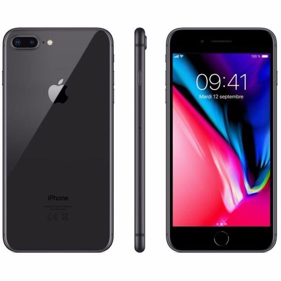 """Smartphone 5.5"""" Apple iPhone 8 Plus - 64 Go, Gris sidéral (Reconditionné - Bon état)"""