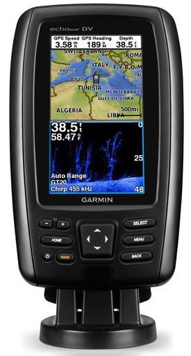 Sondeur GPS Garmin 42 CV CHIRP + sonde 77/200/455/800 KHz