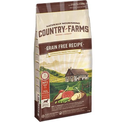 Échantillon gratuit de croquettes Country Farms Grain Free au poulet