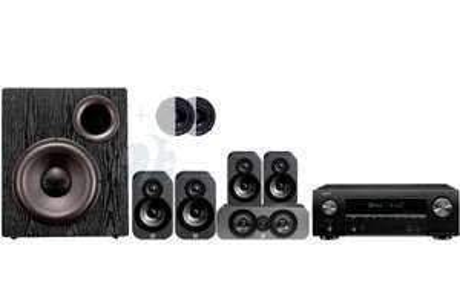 Pack Amplificateur Denon AVR-X2600H + Enceintes Q acoustics 3020 Pack + Subwoofer SVS PB 12 + Atmos