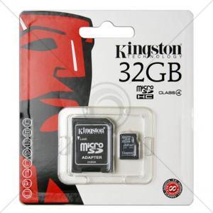 Carte micro SDHC Kingston 32 Go Classe 10  + Adaptateur SD