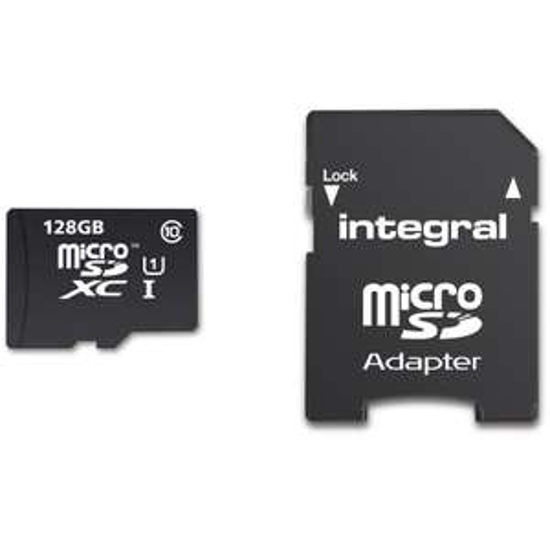 Carte mémoire MicroSDXC Integral 128Go UHS-I U1 - 90Mo/s