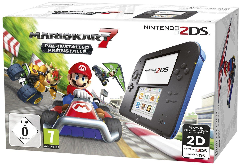 Console Nintendo 2DS + 1 Jeu (avec 44.99€ sur la carte Waaoh)