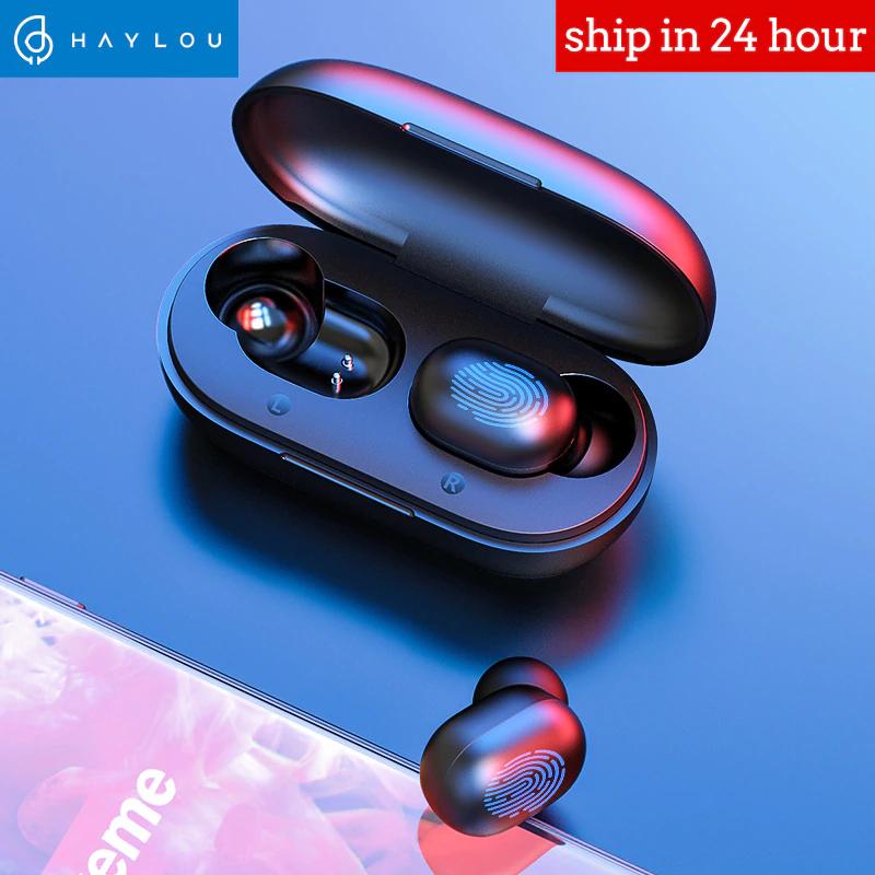 Écouteurs intra-auriculaires sans-fil Haylou GT1 TWS - tactile, noir