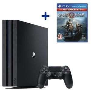 Pack Console Sony PlayStation 4 (PS4) Pro (1 To, noir) + God of War Édition PlayStation Hits