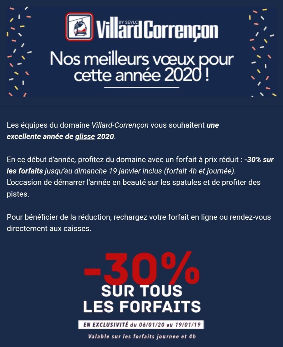 30% de réduction sur les forfaits de ski journée ou 4h à Villard de Lans et Correncon (38)