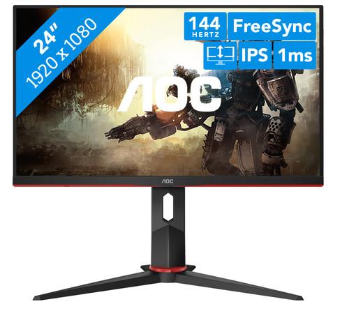 "Écran PC 23.8"" AOC 24G2U - full HD, LED IPS, 144 Hz, 1 ms, FreeSync (Frontaliers Belgique - coolblue.be)"