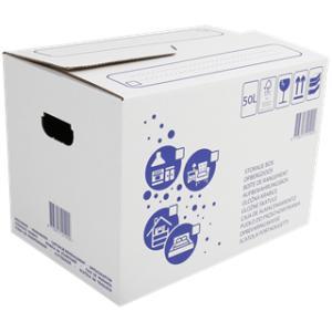 Carton de déménagement - 50 Litres, 48 x 34 x 33 cm (Frontaliers Belgique)