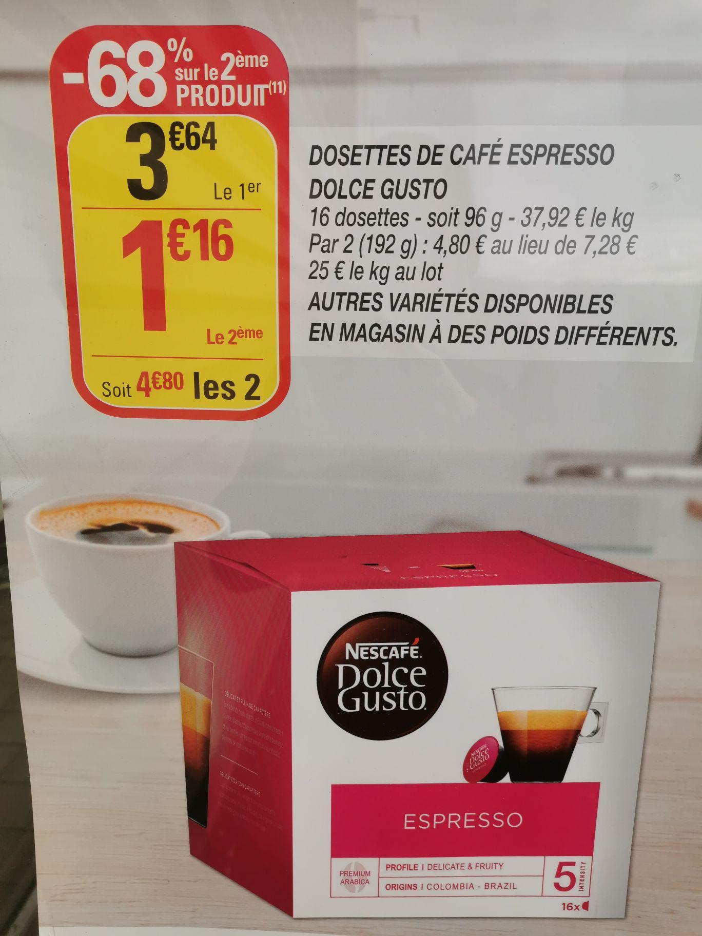 2 Boîtes de 16 dosettes de café Dolce Gusto