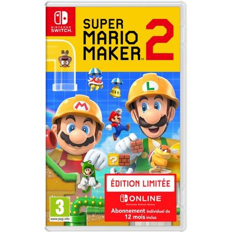 Jeu Super Mario Maker 2 Edition Limitée sur Nintendo Switch + 12 Mois d'abonnement au Nintendo Switch (Dématérialisé)