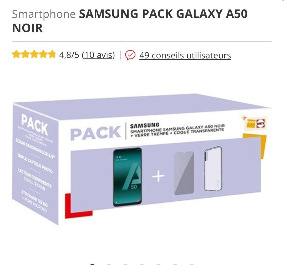 "Smartphone 6.4"" Samsung Galaxy A50 - 128 Go + Accessoires"