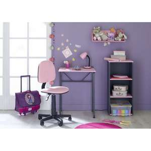Table De Bureau Enfant Carrefour Home Rose Et Gris