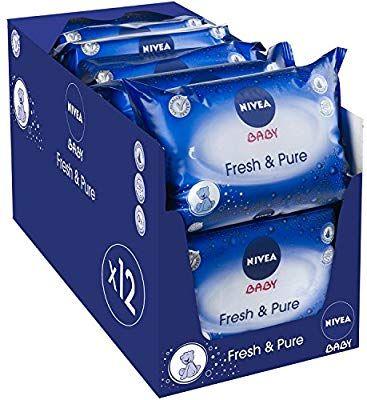 Pack de 12 paquets de 63 lingettes Nivea Baby Pure et Fresh (756 lingettes)