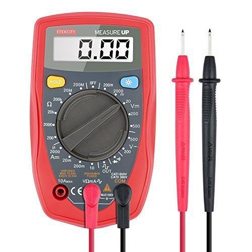 Multimètre Numérique Etekcity Rétroéclairé (avec Cordon de Test AC/ DC...)