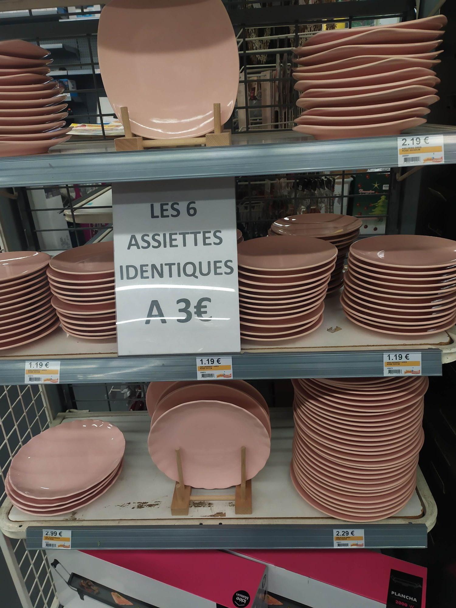 Lots de 6 Assiettes identiques - Différent modèles - Marseille Plan-de-campagne (13)