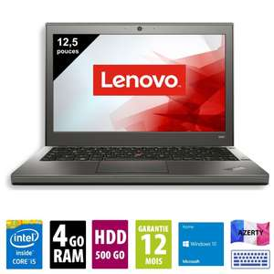 "PC Portable 12.5"" Lenovo ThinkPad X240 - HD, i5-4300M, 4 Go RAM, 128Go SSD, Windows 10 (Reconditionné)"