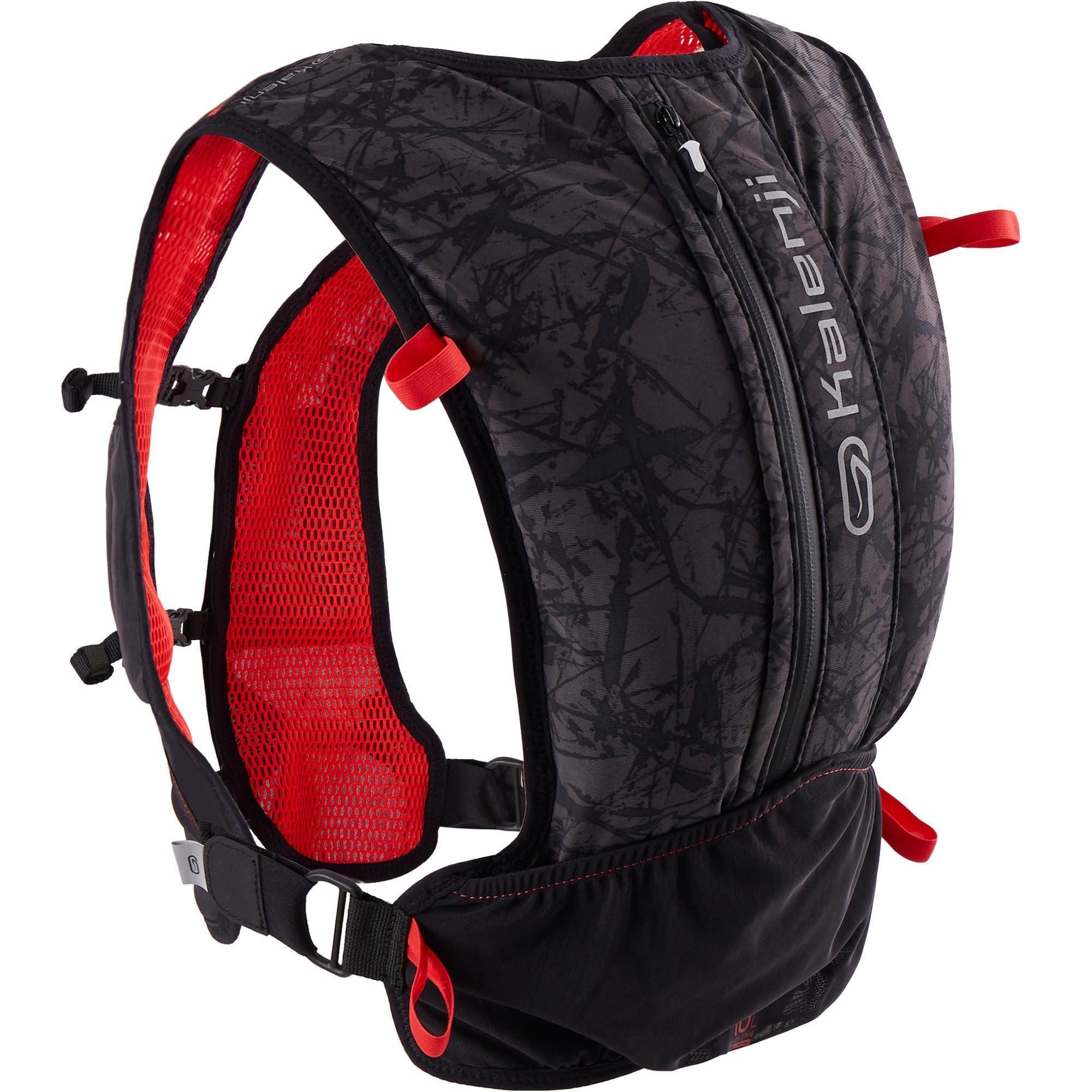 Sac de running / trail Kalenji - 10 L, noir / rouge