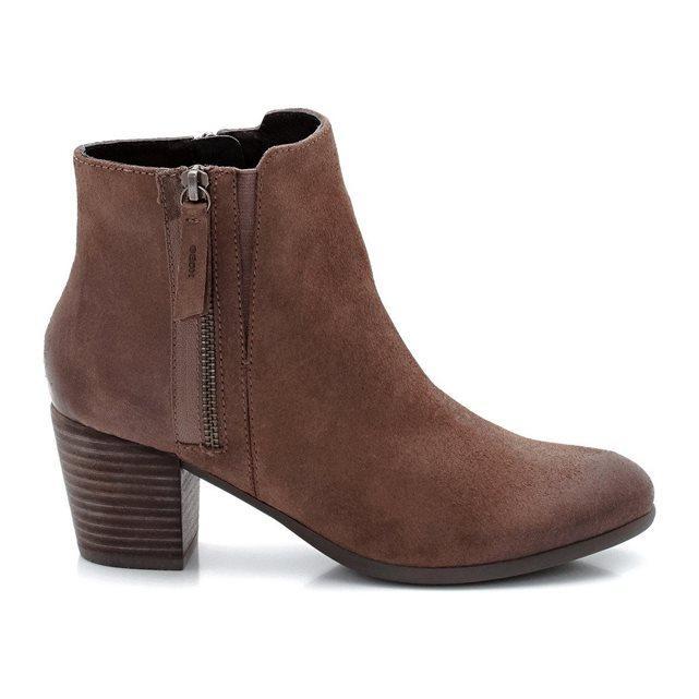 Boots en cuir Geox Lucinda - Taupe