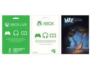 Abonnement Xbox Live Gold 3 mois + Carte Xbox Live 5€ + Jeu Max : The Curse of Brotherhood