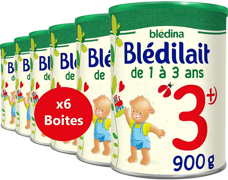 6 Boites lait de croissance Bledina 3ème âge