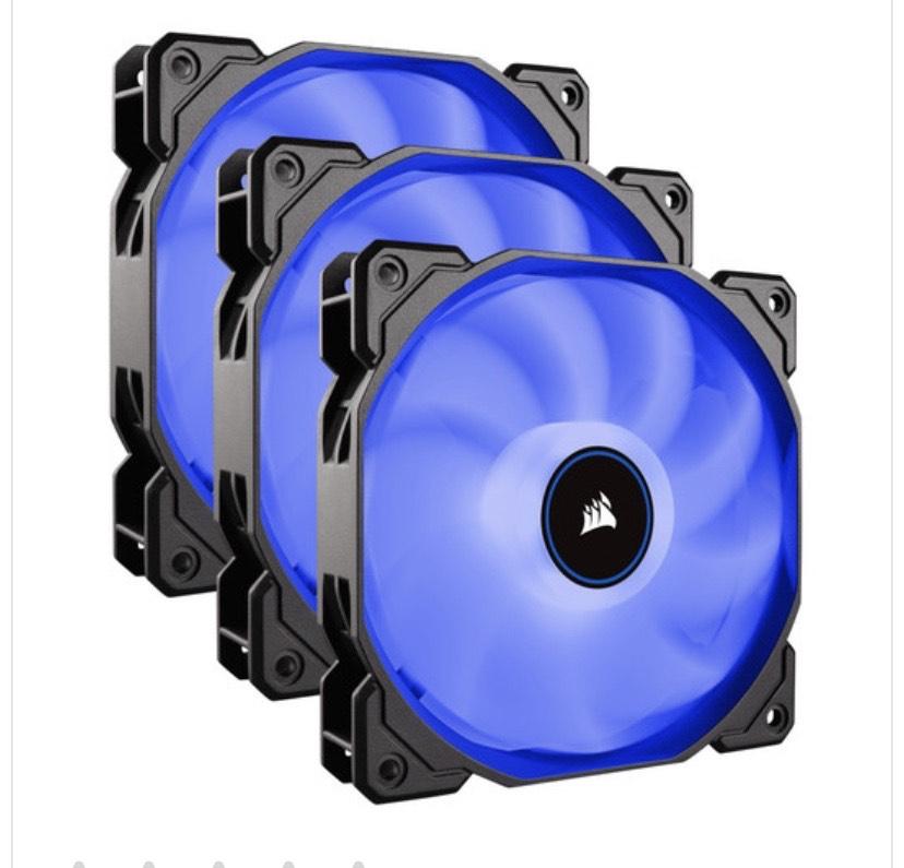 Lot de 3 ventilateurs PC Corsair AF120 LED (2018), 120 mm (LED Bleues)