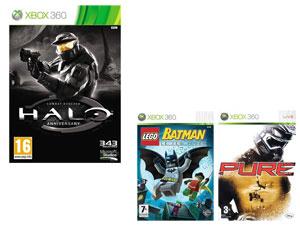 Halo Anniversary + Lego Batman + Pure sur XBOX 360