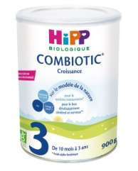 Lot de 3 boites de Lait infantile Combiotic Hipp Croissance 3 - 3 x 900 g