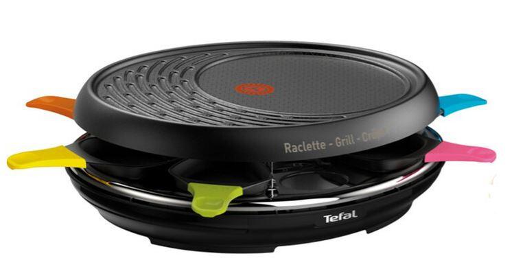 Appareil à Raclette Grill Tefal Colormania RE310812 - 8 personnes