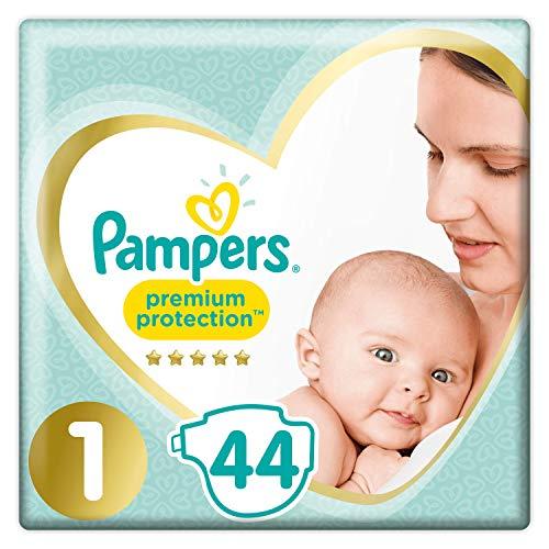 Lot de 2 paquets de 44 couches Pampers Premium Proctection - Taille 1