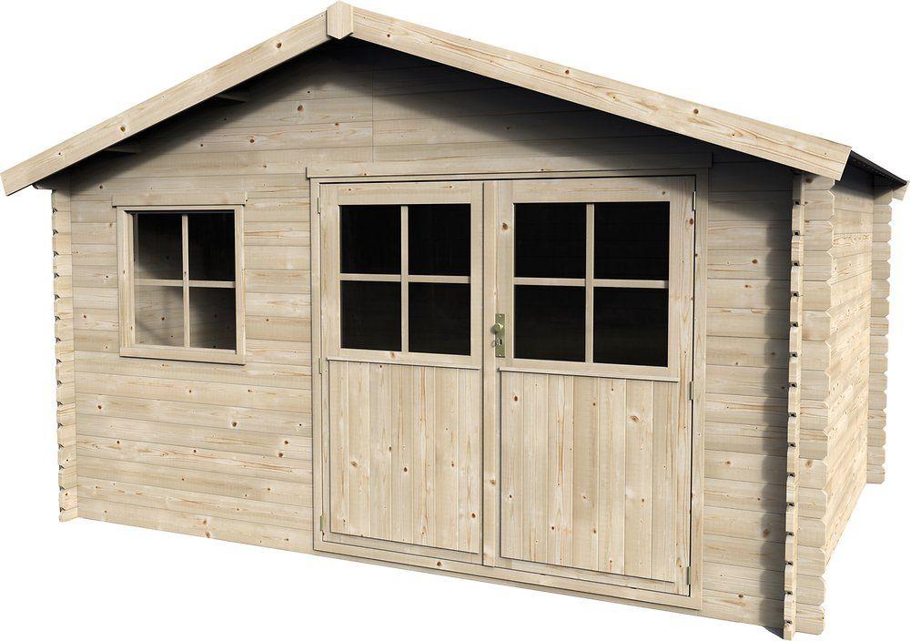 Abri de jardin en bois - 9.38 m2, épaisseur du bois 28 mm