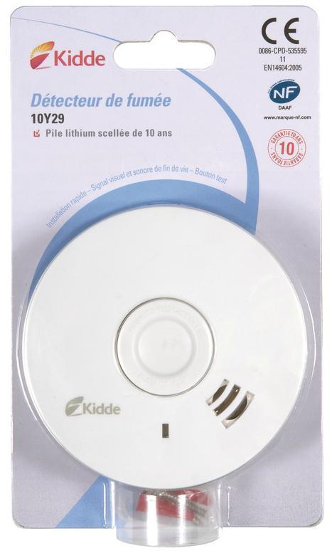 Détecteur de Fumée Kidde 10Y29 (via 18.13€ carte Waaoh)