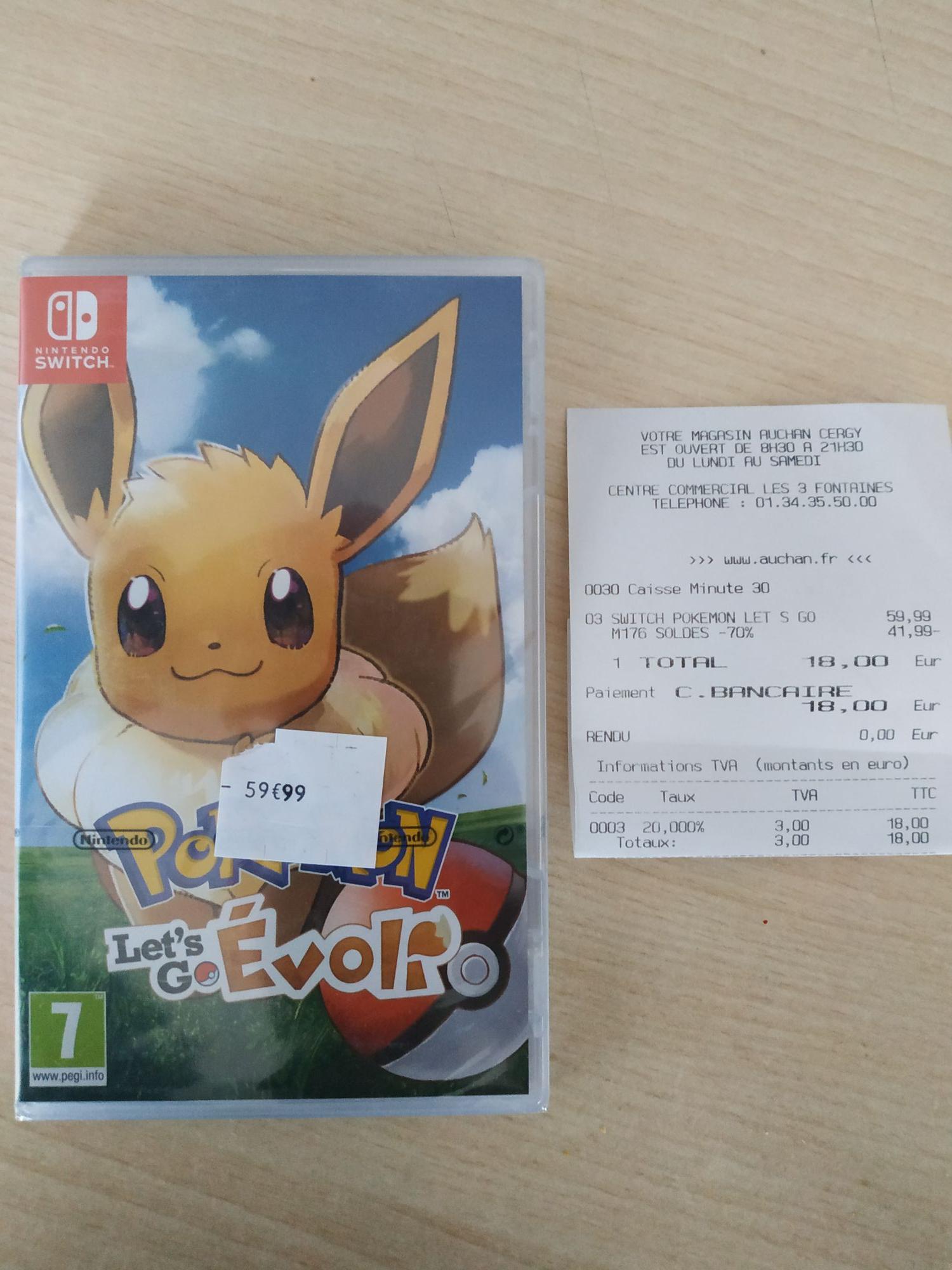 Pokémon Let's Go Evoli sur Nintendo Switch - Cergy (95) / Saran (45)