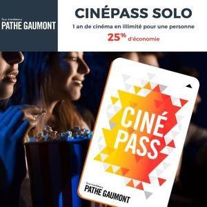 Abonnement d'un an CinéPass Illimité chez Pathé Gaumont (dématérialisé)