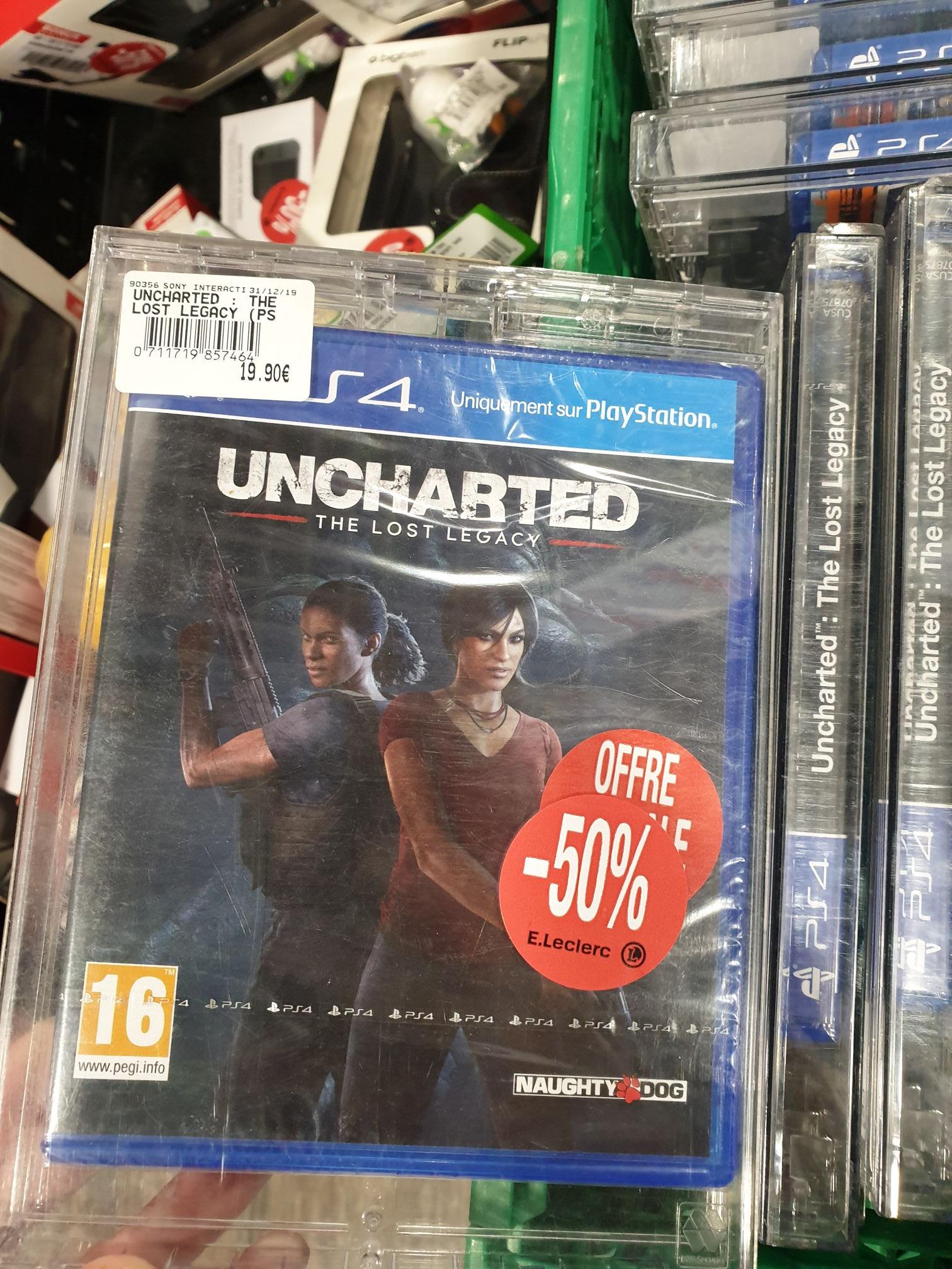 Sélection de jeux vidéo en promotion - Ex : Uncharted: The Lost Legacy sur PS4 - Canteleu (76)