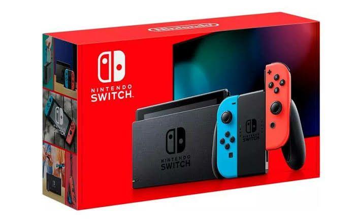 Console Nintendo Switch 2019 Néon (269.99€ avec le code CR30 + 27€ en SuperPoints) - Vendeur Micromania