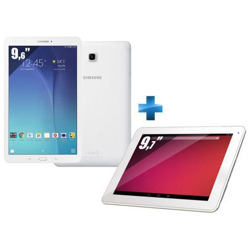 "Tablette 9,6'' Samsung Galaxy Tab E SM-T560 - 8 Go + Tablette 9.7"" MPX4C97-RET - 16 Go - Wifi"