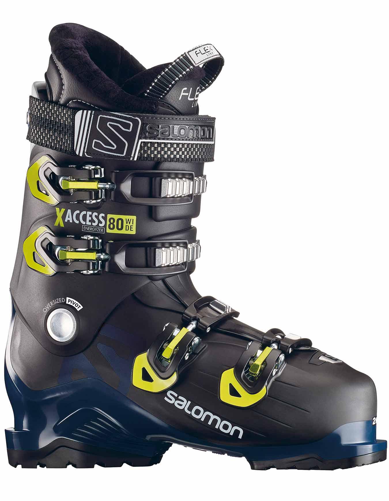 Chaussures de ski Alpin Salomon X-Access 80 Wide BK/Petrol