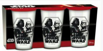 Lot de 3 verres Star Wars ou Reine des neiges