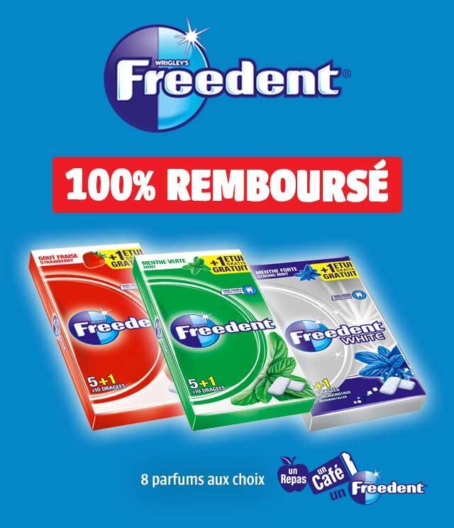 Chewing-gums Freedent 100% remboursés