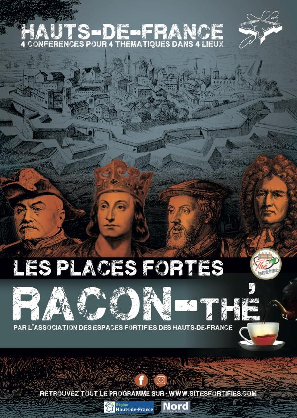 """Dégustation gratuites de thé des Places Fortes """"Racon-thé """" le 11 Janvier à Bouchain (59)"""