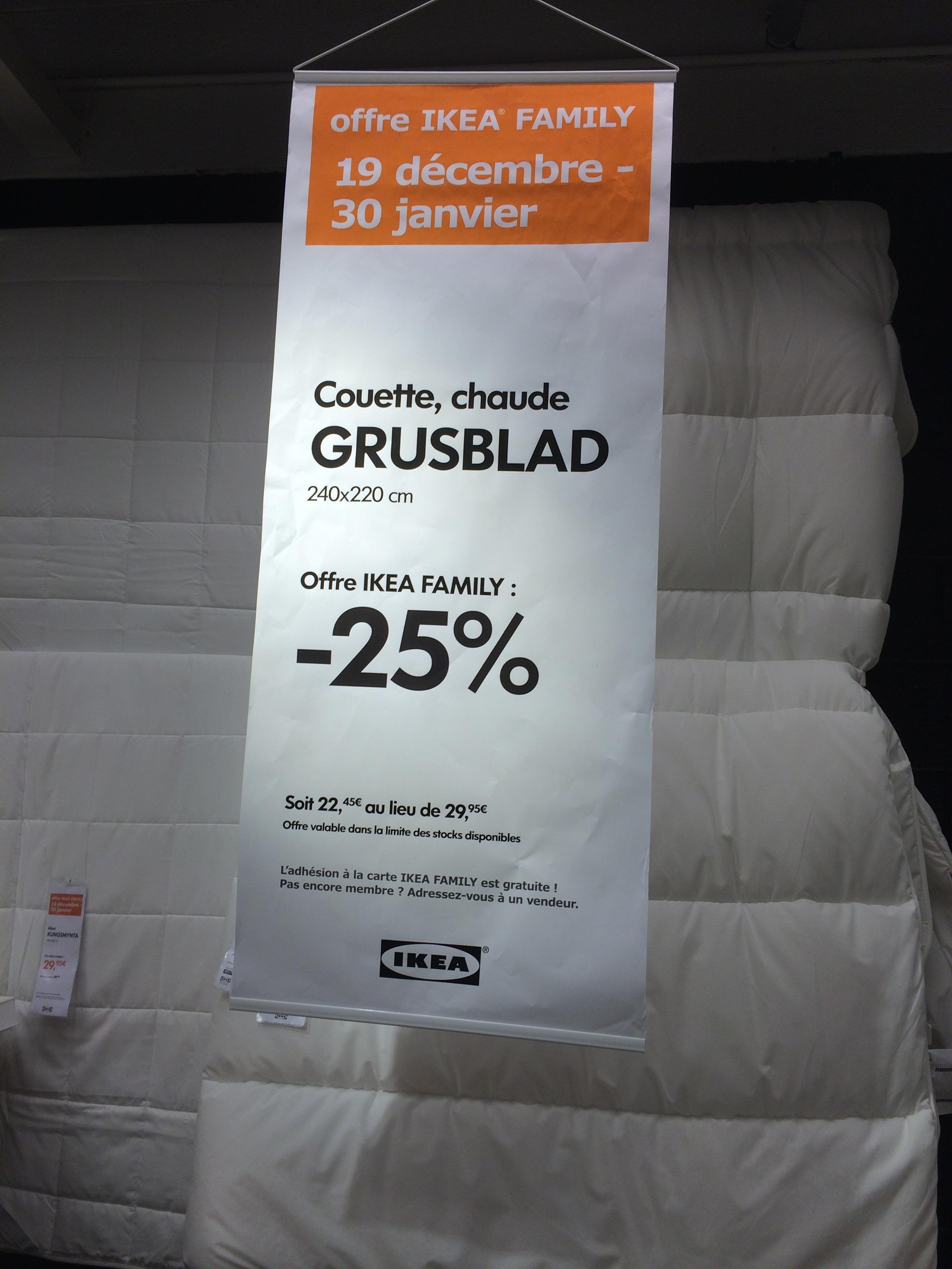 [Membres Ikea Family] Couette chaude Grusblad (240 x 220 cm)